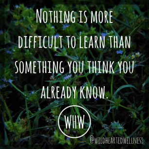 Nothing is more difficult to learn than something you think you already know.